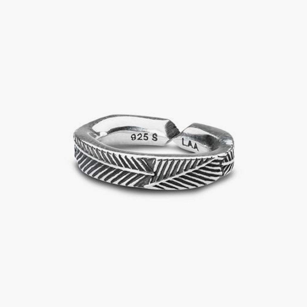 Palm Leaf,Single Silver Link