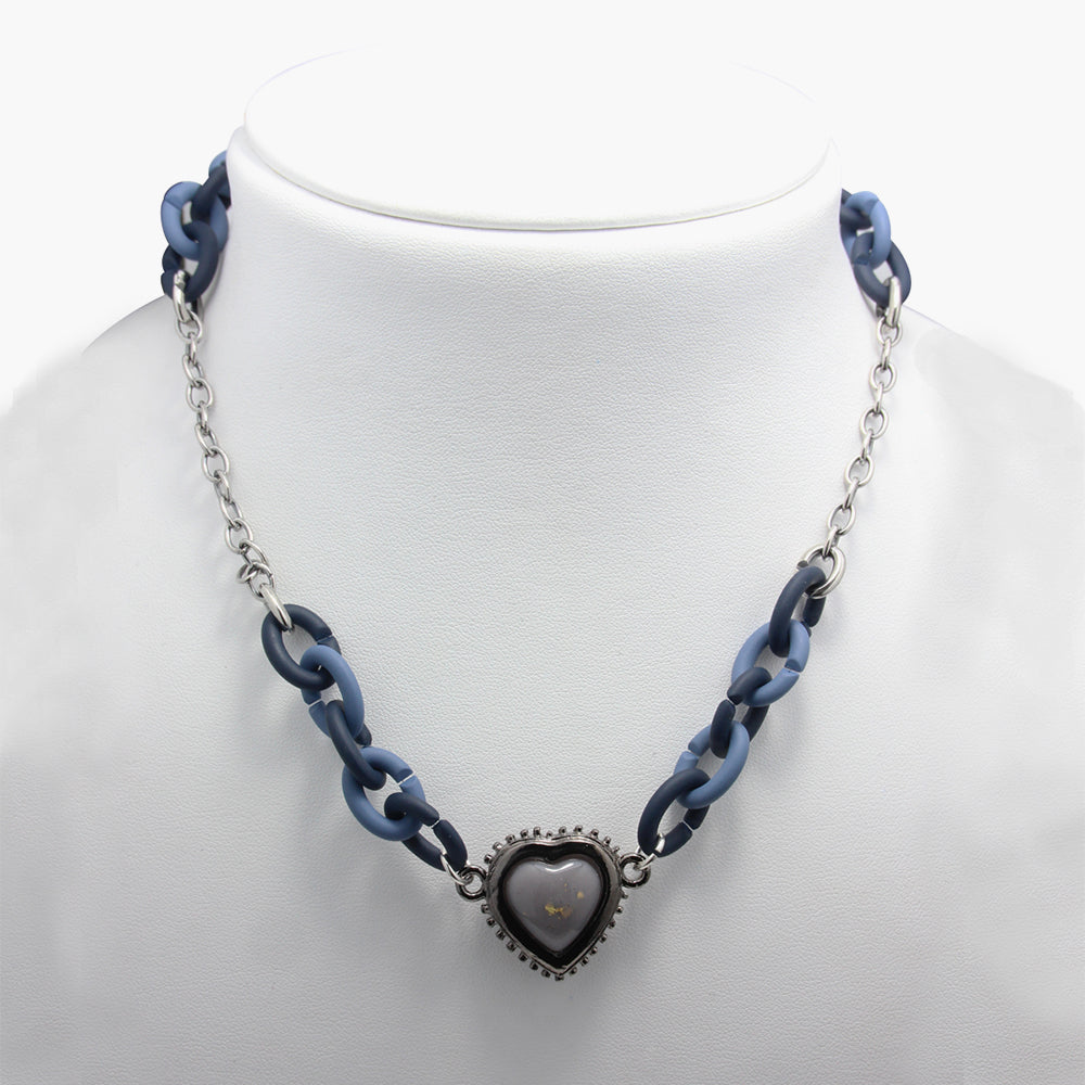 Si-Pueng Grey Heart Amulet Set