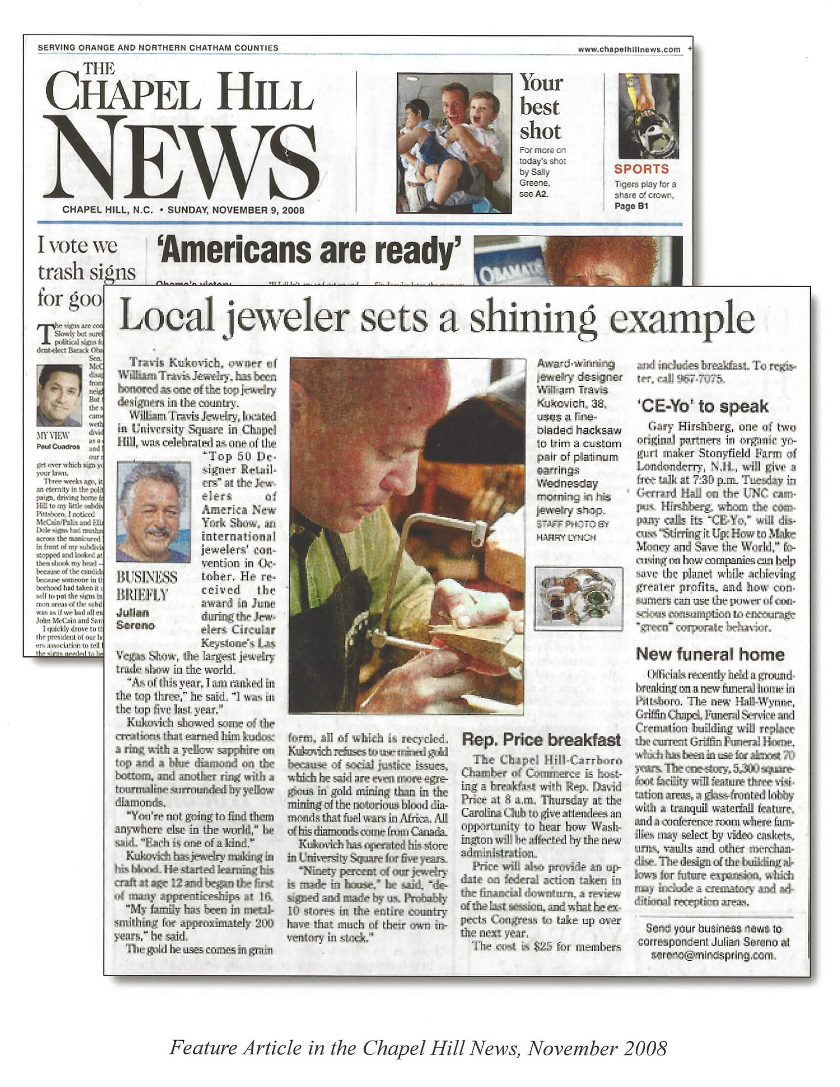 The Chapel Hill News November 2008