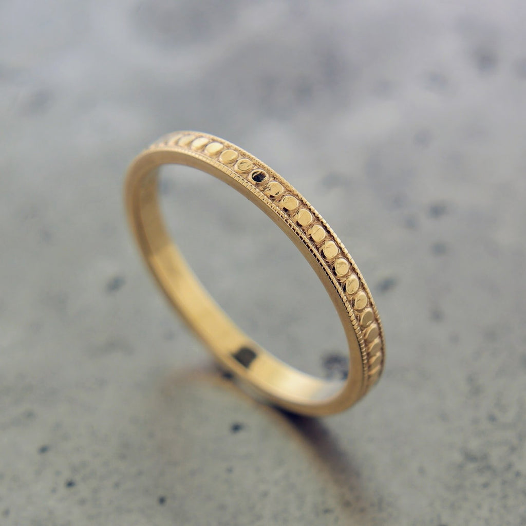 18K ROSE GOLD TEXTURED RING