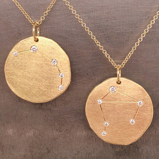 Zodiac Sign Gold & Diamond Necklaces