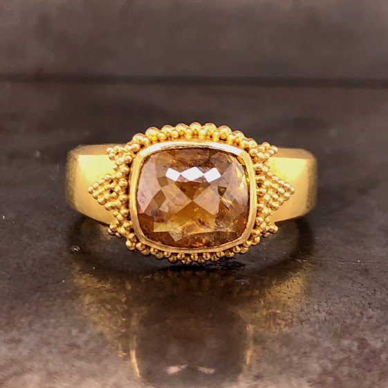 22K Yellow Diamond Ring