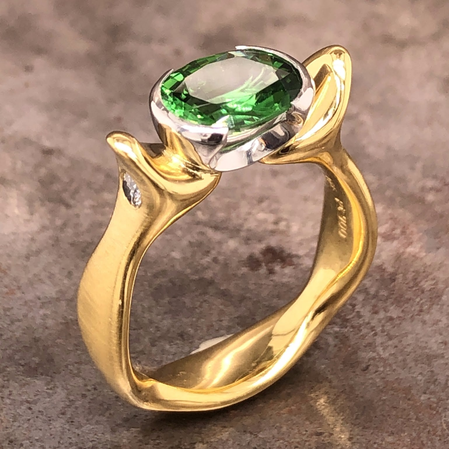 Tourmaline Diamond Ring