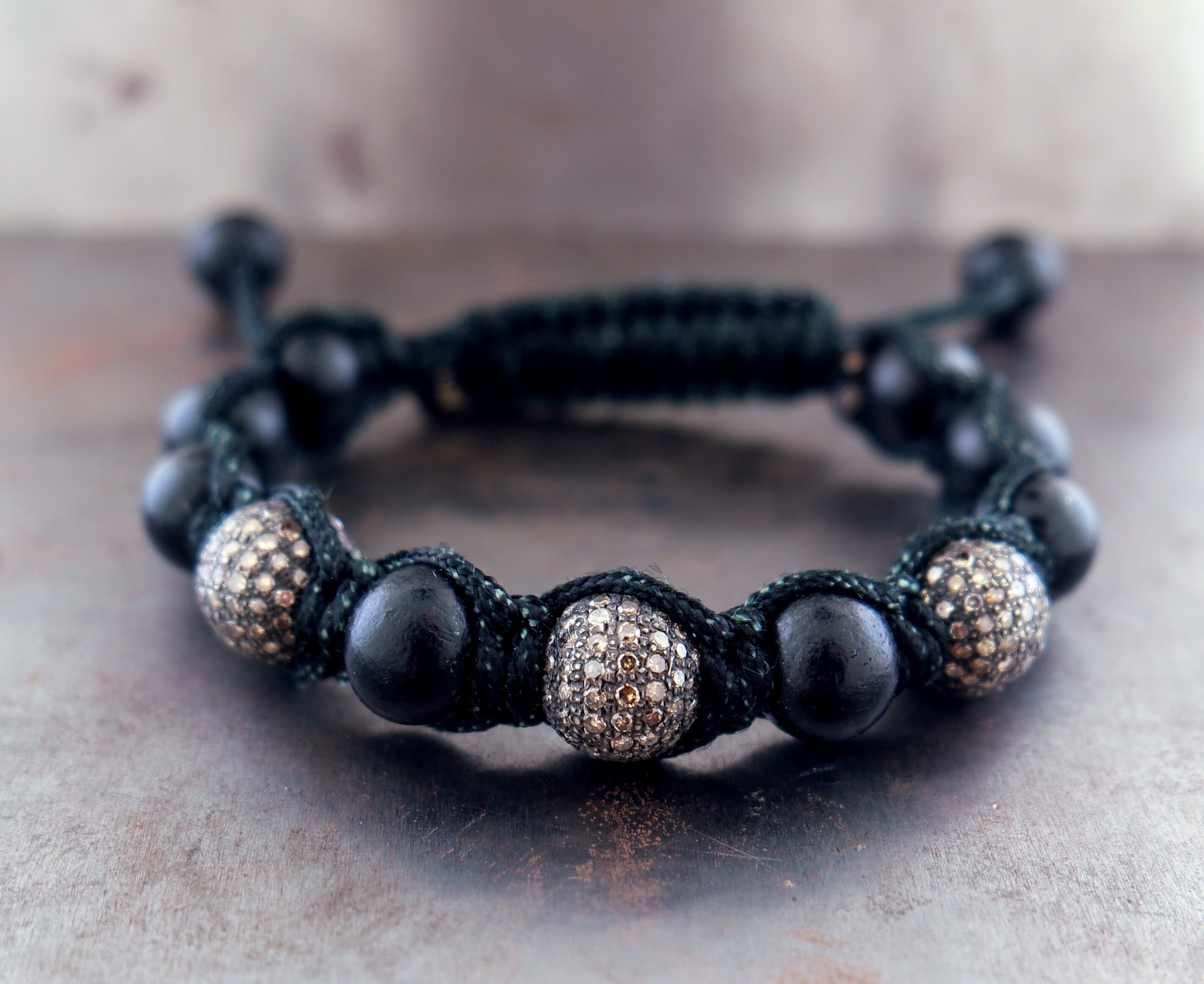 Diamond Ebony Bracelet