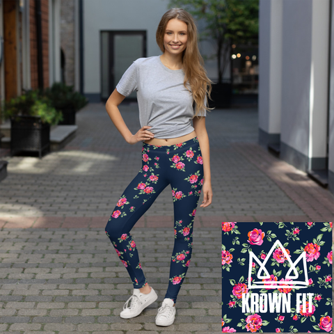 :KROWN FIT - FLORAL LEGGINGS: