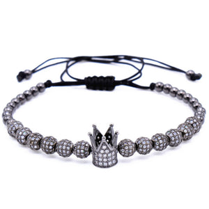 Crown Charm Cord Bracelets - (4 Colors)