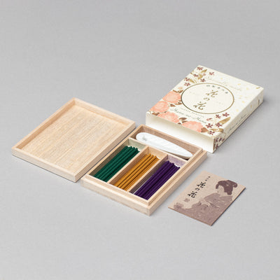 Hana-no-hana Floral Japanese Incense Premium Wooden Box Set