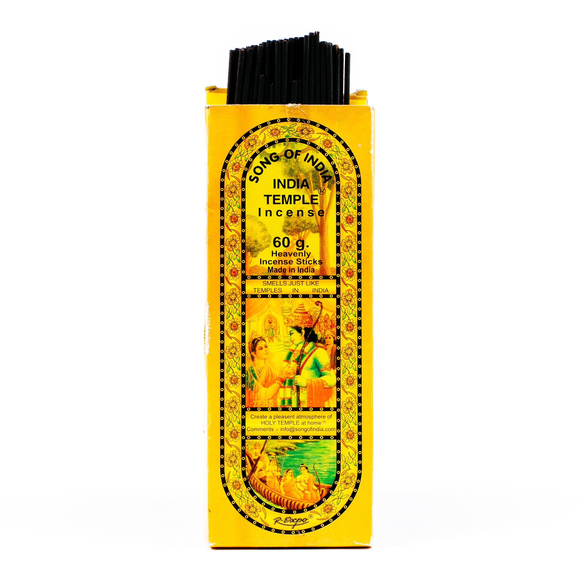 India Temple Incense - Song of India - 120 Stick Box