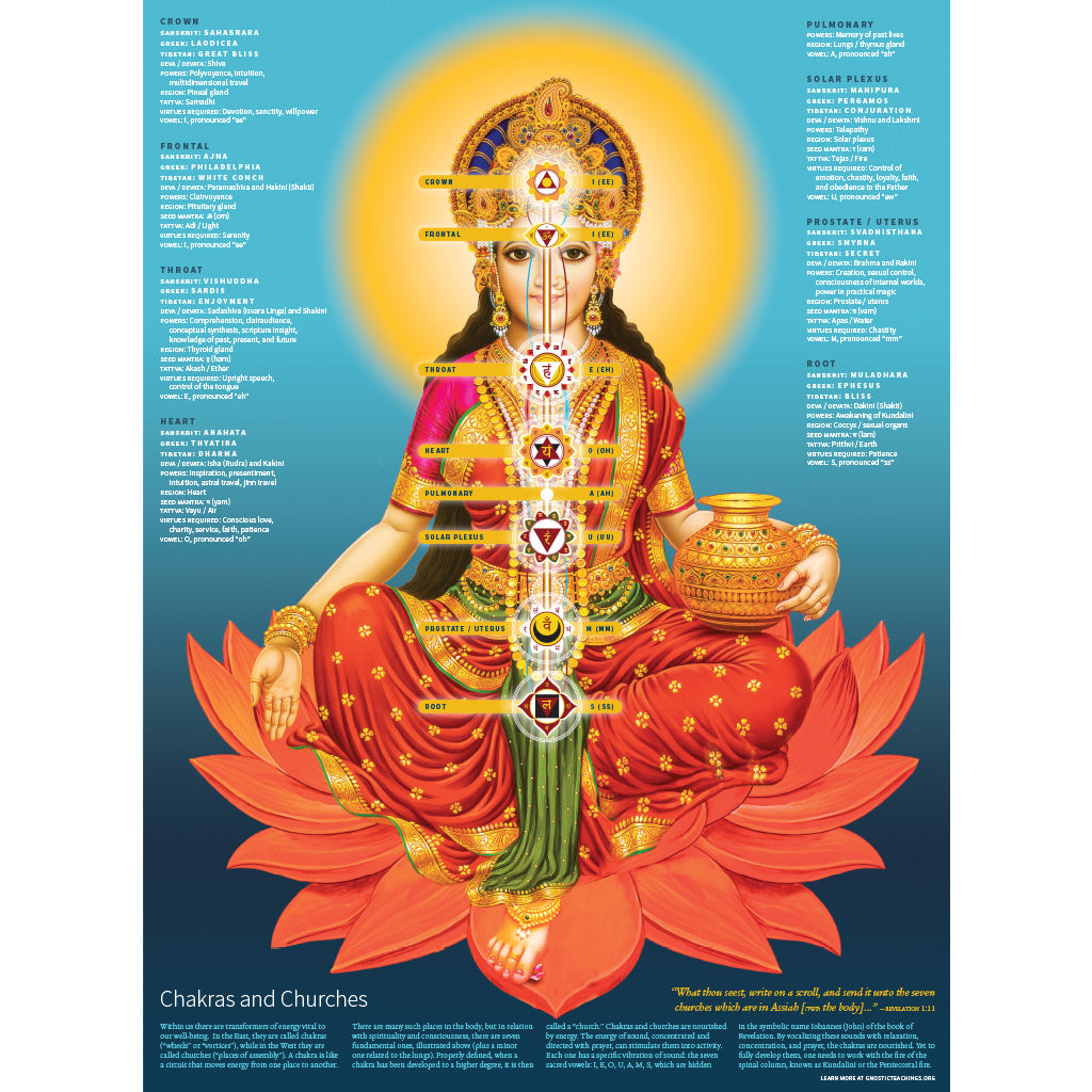 Chakra Poster by Glorian Publishing