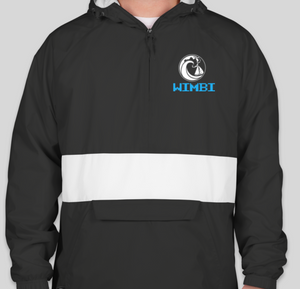 Black/White Wimbi Windbreaker