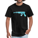 Wave Rifle T-Shirt (Make Waves Not War) - black