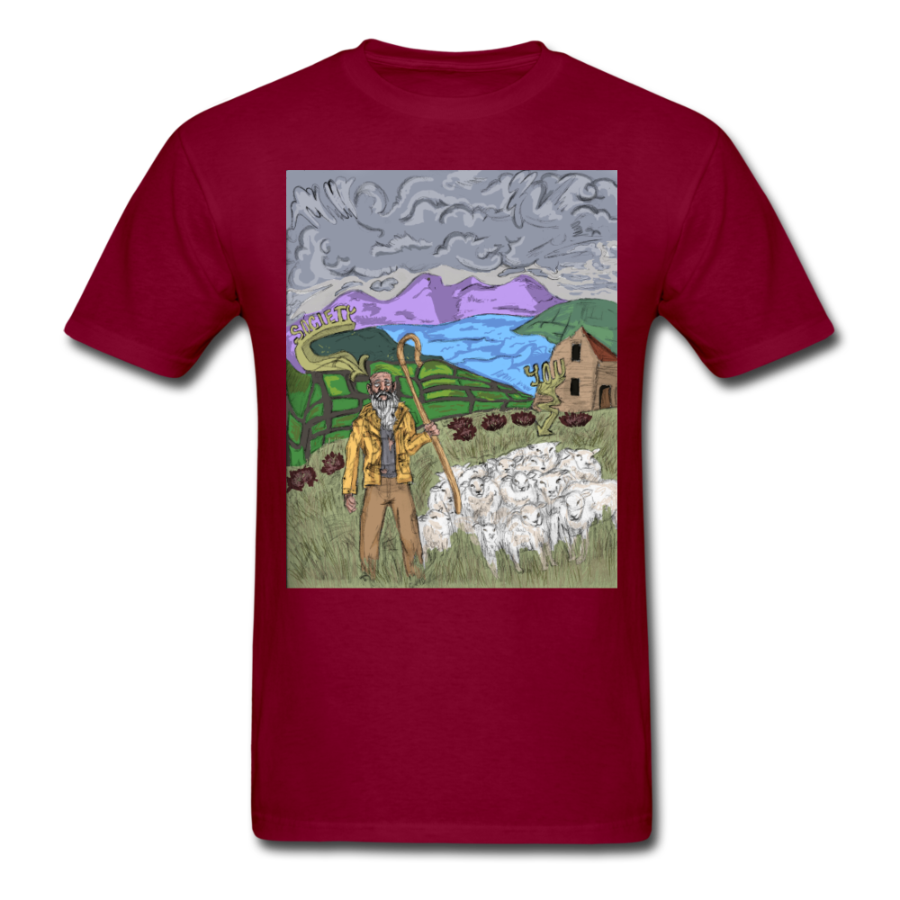 Sheeple T-Shirt - burgundy