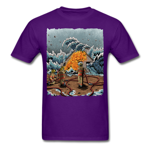 """Heatwave"" Unisex T-Shirt - purple"