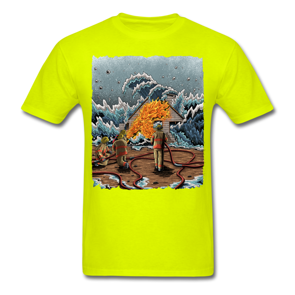 """Heatwave"" Unisex T-Shirt - safety green"
