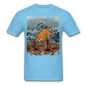 """Heatwave"" Unisex T-Shirt - aquatic blue"
