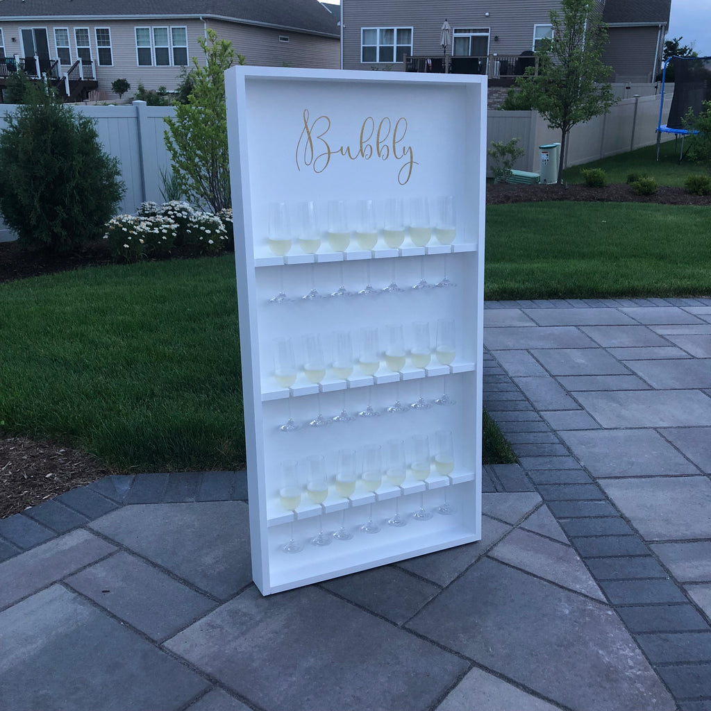 Champagne Wall With Stand