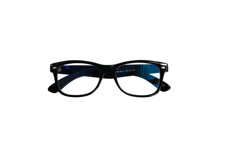 black unisex bluelight blocking glasses