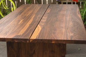 custom made long wooden farmhouse dining table for 8 in walnut wood