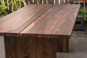 custom wooden farmhouse dining table for 8 in walnut wood