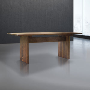 handmade long wood dining table for 8 in walnut wood