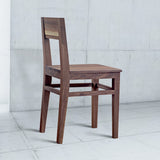 dark wood dining chair with back rest