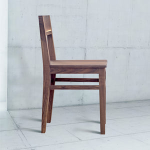 wooden dining chair with back