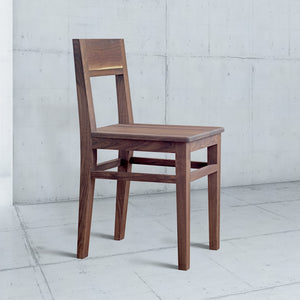 simple wood dining chair with back