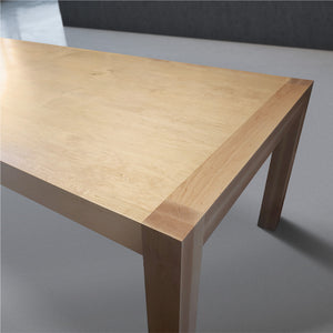 Solid Wood Farmhouse Dining Table in Maple