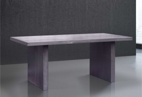 Solid Wood U Dining Table in Maple