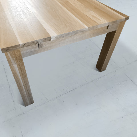 Extendible Dining Table in White Oak