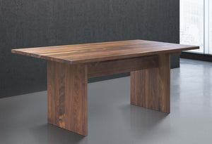 large wooden dining table for 8 in walnut wood