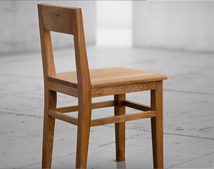 Wood Dining Chair in White Oak