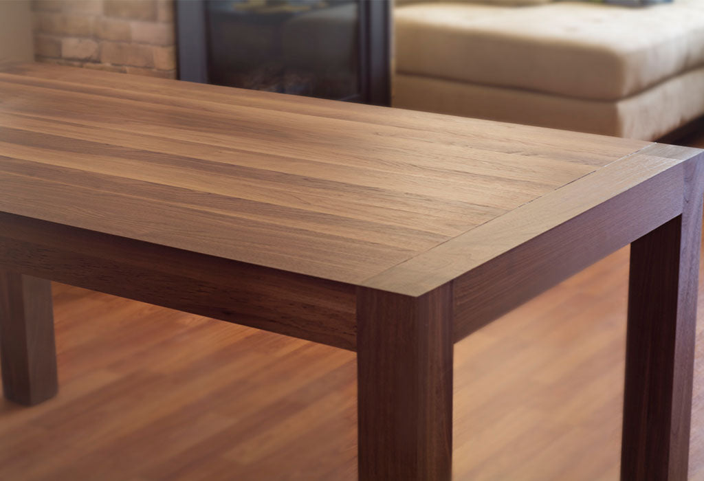 Solid Wood Dining Table In Walnut Adh Woodwork