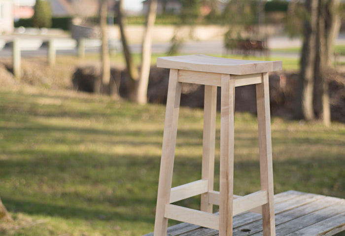 Wooden Counter Stool in Maple