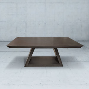 Solid Wood Dining Table in Oak with Black Lacquer Finish