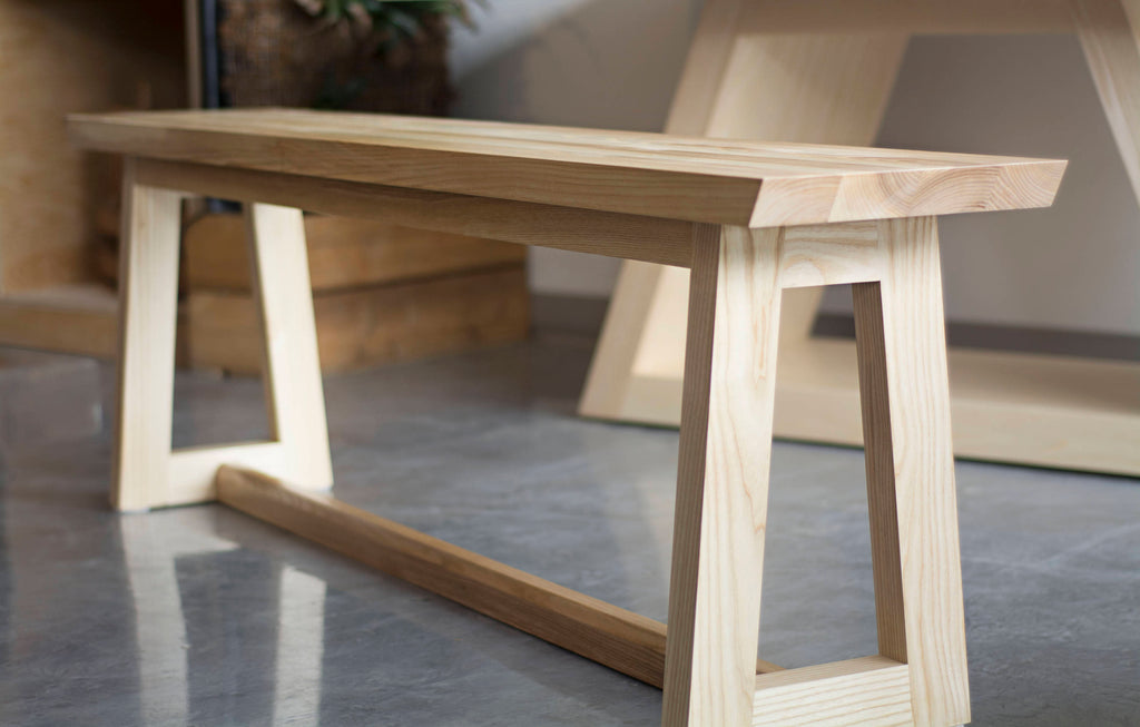 Groovy Wooden Dining Table Bench Seat In Ash Download Free Architecture Designs Rallybritishbridgeorg