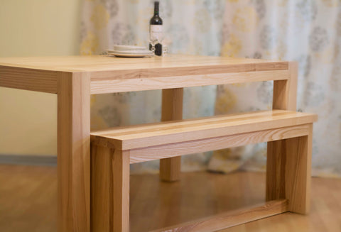 Prime Custom Made Solid Wood Dining Table Benches Adh Woodwork Download Free Architecture Designs Rallybritishbridgeorg