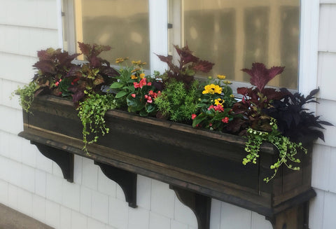 Wooden Window Planter Box in Cedar