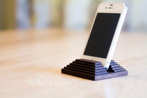 Wooden iPhone Stand in Walnut