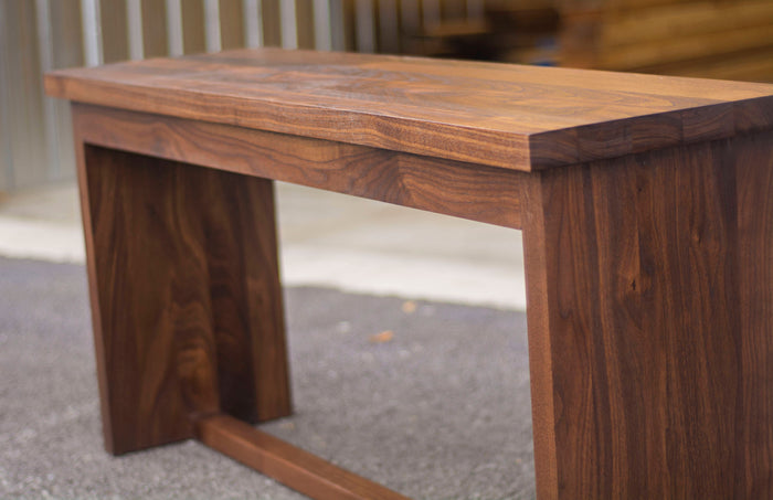 Wooden Bench Seat in Walnut