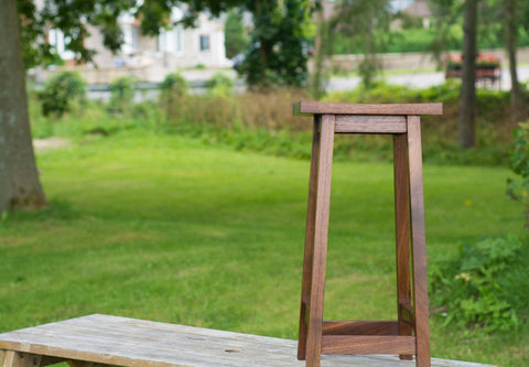 dark wood bar stool 30 inches high with square seat