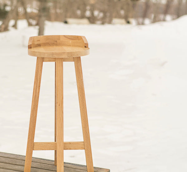 light wood tall stool for kitchen