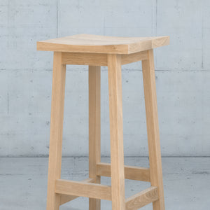 Wooden Counter Stool in White Oak