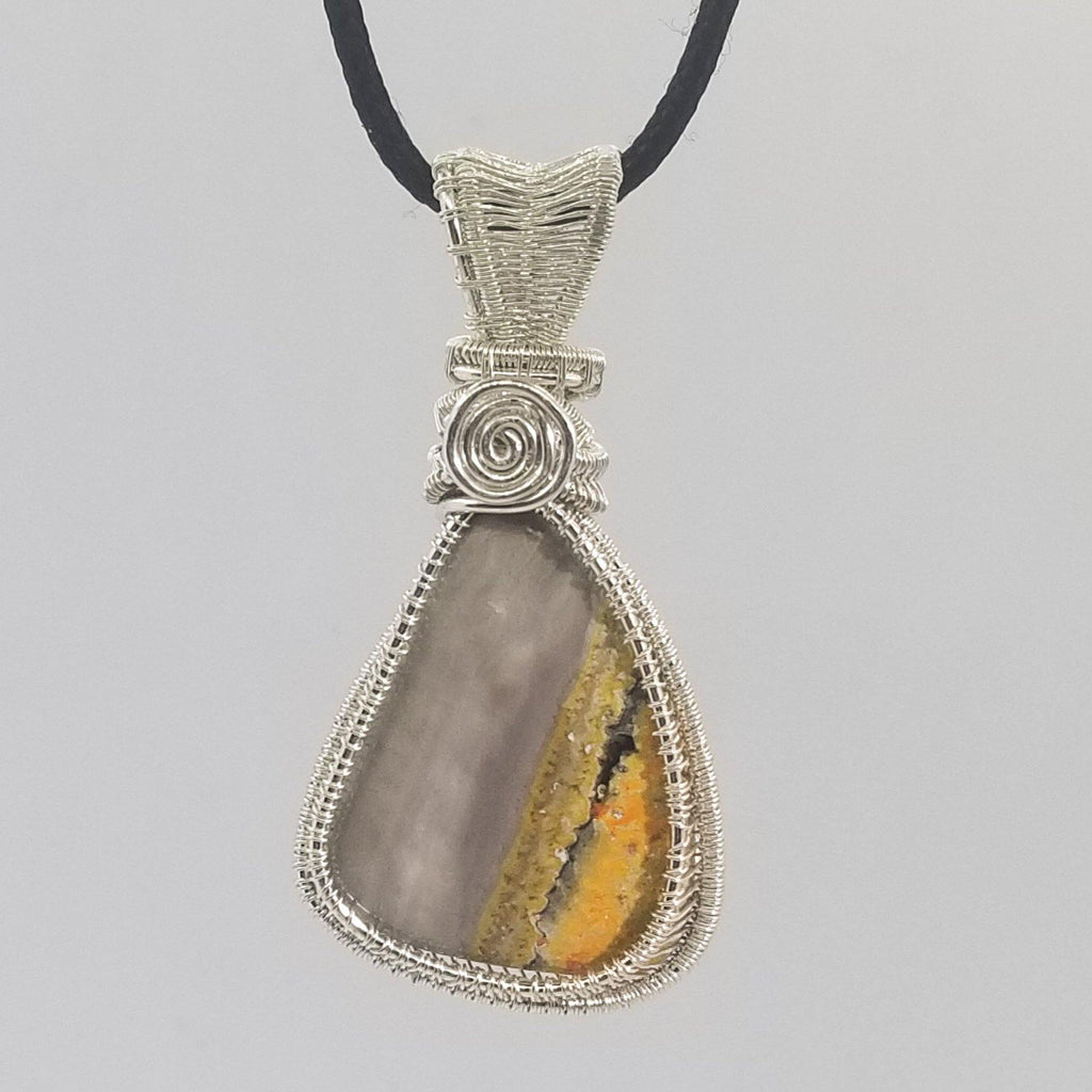 Bumble Bee Jasper Sterling Silver (Pendant)