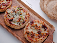 "Load image into Gallery viewer, Low Carb Personal Size 6"" Pizza Shells - Fresh Baked"