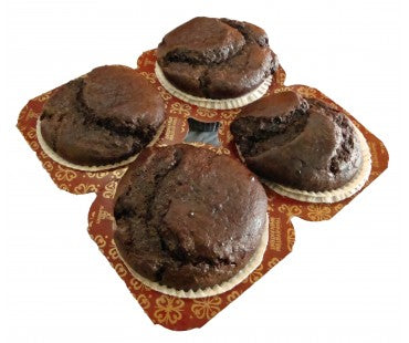 Low Carb Chocolate Muffins 4 Pack - Fresh Baked