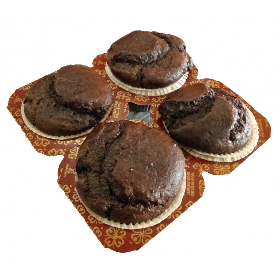 Gluten Free Low Carb Chocolate Muffins 4 Pack - Fresh Baked