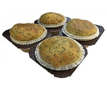 Load image into Gallery viewer, Low Carb Lemon Poppy Seed Muffins 4 Pack - Fresh Baked
