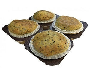 Low Carb Lemon Poppy Seed Muffins 4 Pack - Fresh Baked