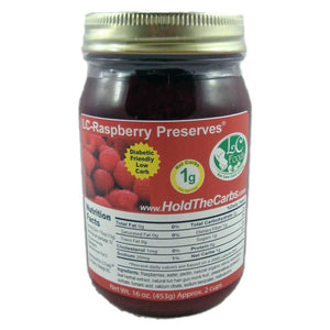 No Sugar Added Raspberry Preserves